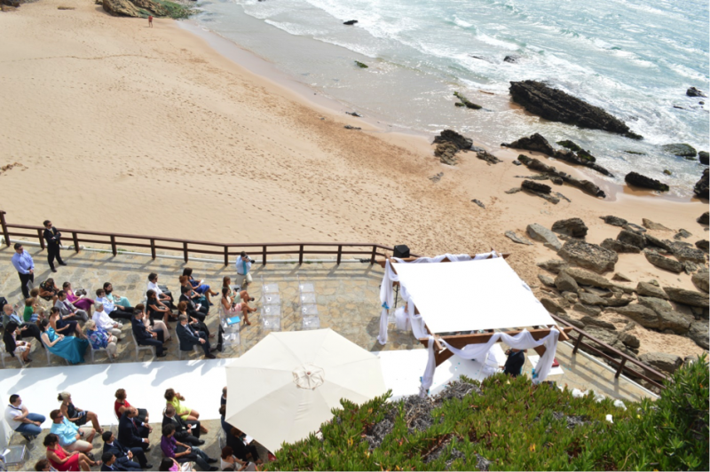 arriba by the sea view wedding ceremony